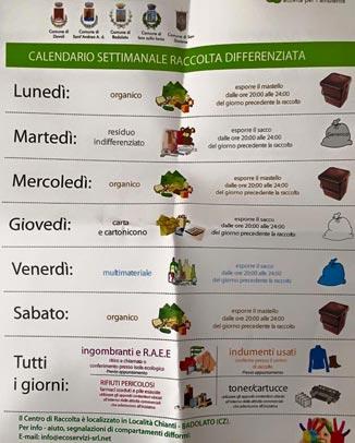 Raccolta Differenziata Palermo Calendario.Raccolta Differenziata Davoli Ordinanza Con Multe Salate Ai