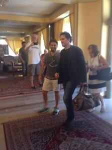Matt Dillon all'arrivo al porto di Catanzaro